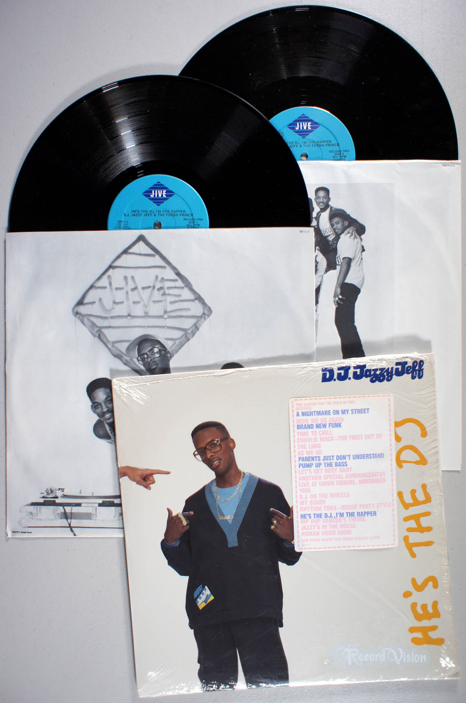 DJ JAZZY JEFF AND THE FRESH PRINCE - He's the DJ, I'm the Rapper - LP x 2